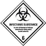 LEMAX® Verpackungskennzeichen Klasse 6.2,Infectious Sub.,Folie,seewasserb.,100x100mm