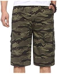 YiLianDa Herren Vintage Cargo Shorts Bermuda Kurze Hose Sommer Kurze Hose b856854a18