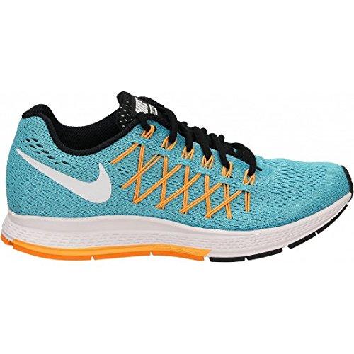 Nike Wmns Air Zoom Pegasus 32, Zapatillas de Running para Mujer, Azul (GMM Bl/White-LSR Vvd Orng), 36 EU