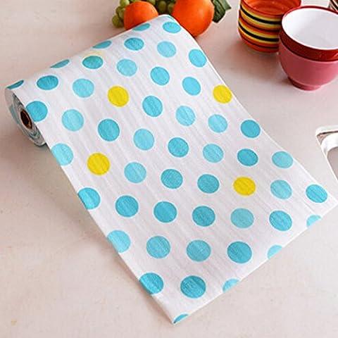 spritech (TM) rutschfest Pad Druck antibakteriell ambry von Haushalt Küche Schublade Matte Papier Wasserdicht dampproof Matte Kleiderschrank Schublade, Color-50, (Papier Bag System)