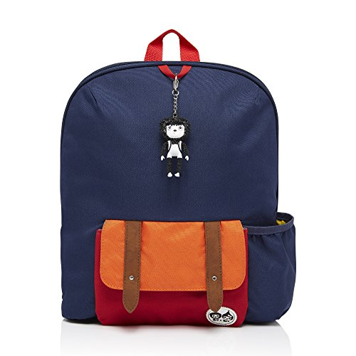 babymel-kids-backpack-rucksack-with-keyring-navy-colour-block-suitable-from-3-years-plus