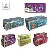 lot de 2 Boîtes à pharmacie 2 tailles et 4 couleurs aléatoire (rose, bleu, violet et vert)
