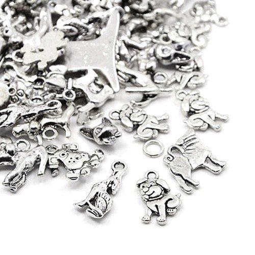 30 Gramm Antik Silber Tibetanische ZufälligeMischung Charms (Hund) - (HA12990) - Charming Beads