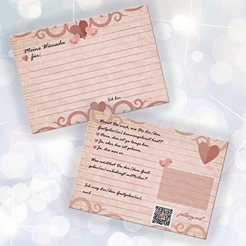 52 Postkarten Hochzeit – PORTOFREI möglich – Postkarten Set Hochzeit mit 52 Karten zur Hochzeit. Hochzeitsspiele mit Karten für Gäste und Brautpaar. Gute Wünsche Karten Vogel