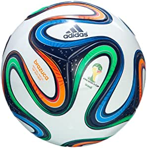 adidas Men's Brazuca Top Replique Ball - White/Night Blue/Multicolor