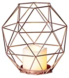 Star 062–53Edge Laterne mit LED Kerze Metall/Kunststoff Kupfer 20x 20cm
