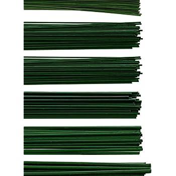 AUSF:0.8 x 300mm Floral-Direkt 2,5kg Blumendraht gr/ün lackiert Steckdraht Basteldraht Bindedraht alle Gr/ö/ßen