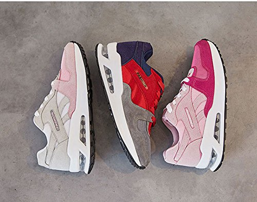 Peggie House,Femmes Chaussures de Course Sports Fitness Gym athlétique Baskets Sneakers Chaussures de Running 35-40 Rouge