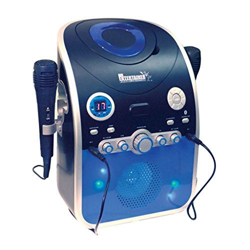 Mr Entertainer CDG Karaoke-Maschine mit Bluetooth und Blinken LED-Leuchten