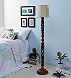 off white Designer lamp, Fashionable Wooden Floor Lamp