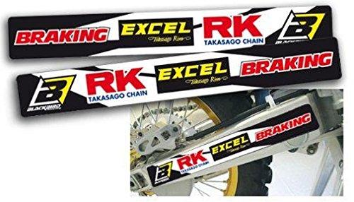 MX Enduro Schwingen Aufkleber Sponsor Universell 38x5cm
