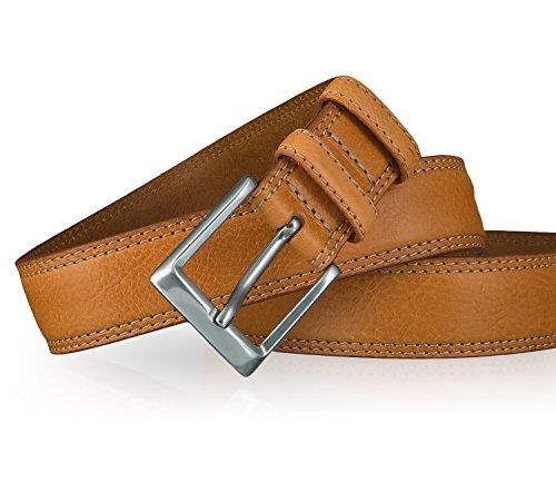 Lee Herren Gürtel Stitched Raised Belt Cognac Braun