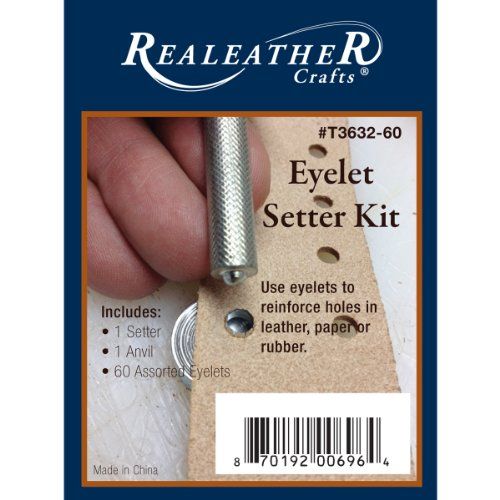 Realeather Crafts en métal à œillets Setter kit