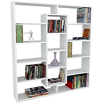 Bücherregal weiß design  VOLANS Bücherregal - Weiß ( glänzend ) - Standregal - Wandregal in ...