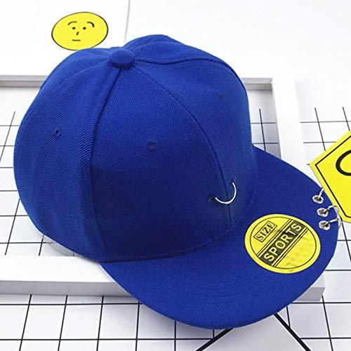 Dance Hoop Kostüm - mlpnko Kindermütze Hip Hop Street Dance Hut Kleine Krone Baby Flache Kappe Baseballmütze Jungen und Mädchen Hut Hoop Blau 3-8 Jahre (48-54 cm)