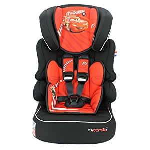 Disney Highback booster Car seat group 1/2/3 (9-36kg) - Made in France - Side impact protection - 3 stars TCS-Approved ECE R44/04.