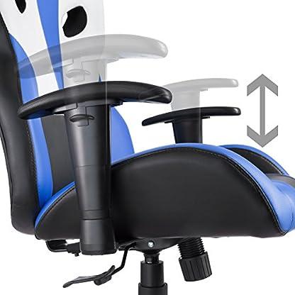 TecTake 800578 – Silla de Oficina, Fácil de Limpiar y Duradera, Acolchado Grueso – Disponible en Diferentes Colores (Azul | No. 402904)