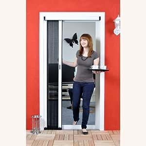luxus fliegengitter plissee f r t r als alubausatz insektenschutz 130 cm braun. Black Bedroom Furniture Sets. Home Design Ideas