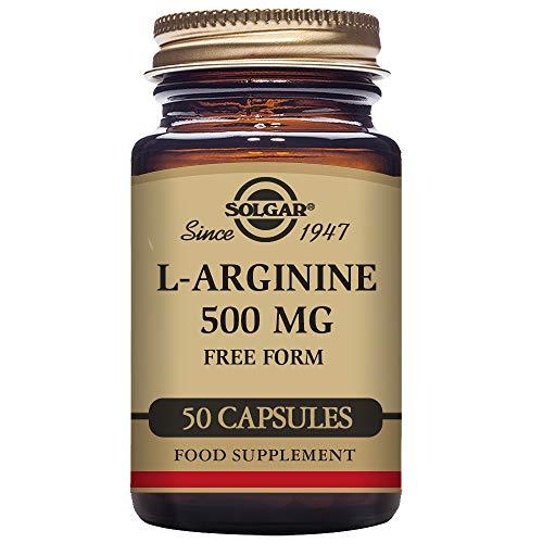 Solgar L-Arginine 500 mg Vegetable Capsules, 50 V Caps 500 mg