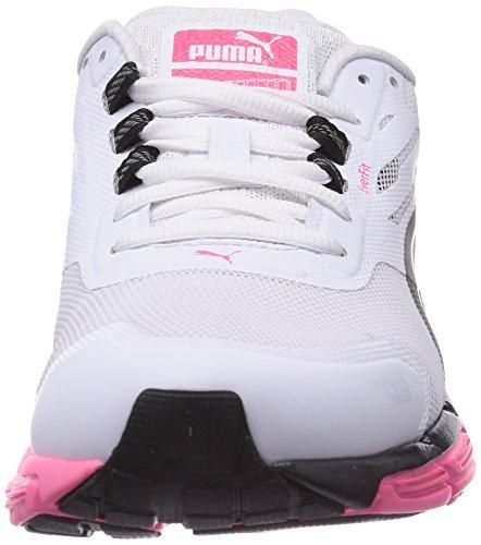 Puma Faas 500 S v2 Wn's Damen Laufschuhe Weiß (04 white-black-fluo pink)