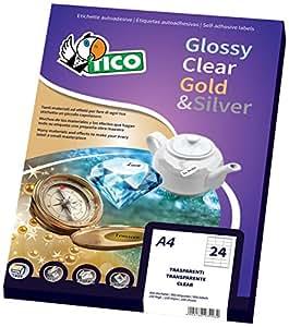 Tico GL4-3627 Etichette Satinate Oro Ovali, 36 x 27, Confezione 100