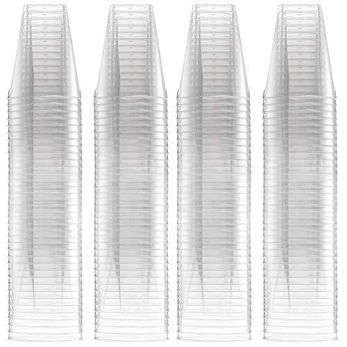 500 Hartplastik Schnapsgläser (60 ml) - Einmal & Wiederverwendbar, Kristallklar & Bruchsicher Kunststoff Shotgläser, Einweg Shotbecher für Schüsse Shots, Wodka-Gelee, Partys| 100% Recycelba (Einweg-gläser Schuss)