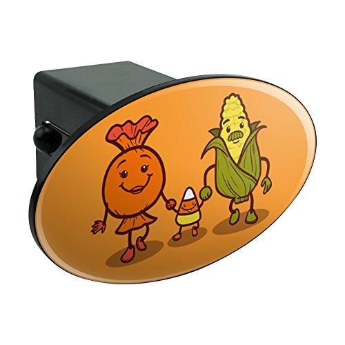 Candy Corn Familie Halloween Oval Anhängerkupplung Trailer-Plug Einsatz ()