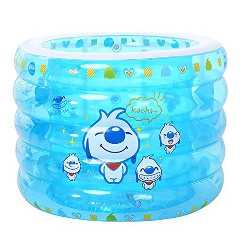 Bathtubs Aufblasbare badewanne für Kinder groß Babybadewanne, Kinderpool Aufblasbare Runde Pool Neugeborenen Blau 110 cm * 75 cm