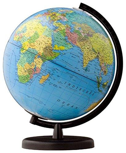 Terra Leuchtglobus, politisch/physisch: 26 cm Durchmesser, Fuß und Meridian Kunststoff schwarz in 4-farb. Geschenkverpackung (terra Globen / Made in Germany)