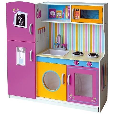 FC de 1057Juego de cocina de cocina infantil madera Deluxe