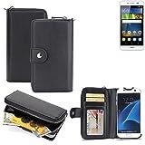 2in1: Für Huawei Y6Pro LTE Handyhülle & Portemonnee