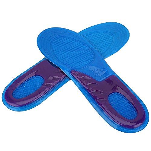 653277b49d Alomejor Plantillas de Gel Deportivas Mujer Hombre Zapatos Pad Ortopédico  Masaje Amortiguador Desodorante Militar Suave Confortable