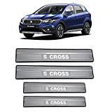 #1: AutoPop Stainless Steel Non-LED Footstep Door Sill Plate for Maruti Suzuki Scross