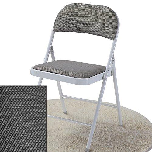 Gepolsterte Stoff-klappstuhl (Home / Outdoor Freizeit Stuhl Falten Bürostuhl, Klappstuhl Stuhl, Netto Stoff Stoff gepolstert Esszimmer Sitz Haushalt Schreibtisch Stuhl / grau-Pack von 1 langlebig von BZEI-Stuhl)