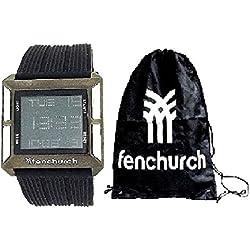 Fenchurch Gents Digital Chronograph Black Rubber Watch & Gym Bag Gift Set AN93