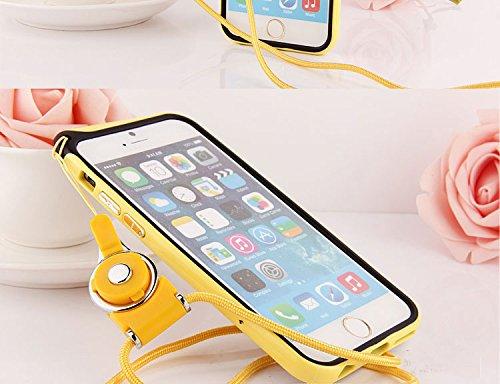 hapgo & # 8482; Bumper Rahmen Schutz Shell Tasche mit verstellbarem abnehmbarer Umhängeband Gel zum Aufhängen Umhängeband Halter Fall gelb