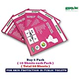 Gypsy Hygienic Disposable Paper Toilet Seat Covers, Each 10 Sheets (Gypsy 007) - Pack of 5