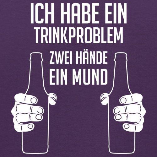Ich habe ein Trinkproblem. Zwei Hände ein Mund - Herren T-Shirt - 13 Farben Lila