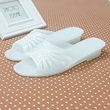 WXMTXLM Zapatillas de verano Zapatillas de plástico zapatos de casa de verano antideslizante casero transparente baño de mediana edad desodorante plástico zapatillas de baño, 39, blanco lechoso