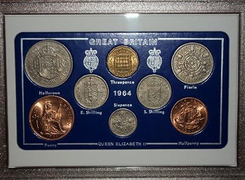 1964 GB Great Britain British Coin Birth Year Vintage Retro Gift Set (53rd Birthday Present or Wedding Anniversary)