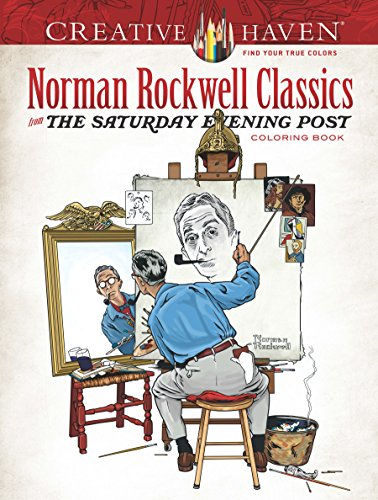 Creative Haven Norman Rockwell's Saturday Evening Post Classics Coloring Book (Adult Coloring) -