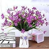 ADLFJGL Kunstblumen Im Topf,Blumenschmuck Der Brautblumenstraußwohnzimmereinrichtungen Der Blumen des Künstlichen Blumen des Schmetterlings Künstliche Blumen Purpur 2