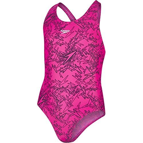 Speedo Mädchen Boom Allover Splashback Swimwear, Blau