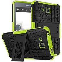Samsung Tab A 7.0 Carcasa,Funda para Galaxy Tab A6 7'',XITODA Hybrid Armor Cover Tough Carcasa Tablet Case para Samsung Galaxy Tab A 7.0 Pulgadas 2016 SM-T280/T285 Funda Protección con Kickstand - Verde