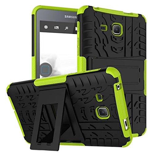 7.0 Case,Hülle für Samsung Tab A 7 Hybrid Armor Cover Tough Tasche Tablet Case für Samsung Galaxy Tab A 7.0 Zoll 2016 (SM-T280/T285) Tablet Schutzhülle mit Kickstand - Grün ()