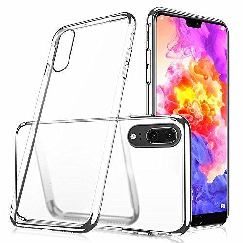 Momoxi Phone Accessory Huawei Handyhülle Handy-Zubehör Stylischer Hybrid TPU Plating Case aus Transparente rückseitige Abdeckung Nackte Vision Silikon für Huawei P20 lite hülle