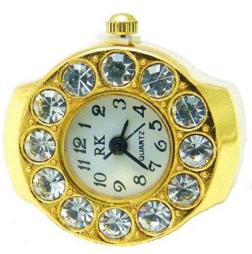 Ringuhr Uhrenring, alle Größen GOLD 1 51-1