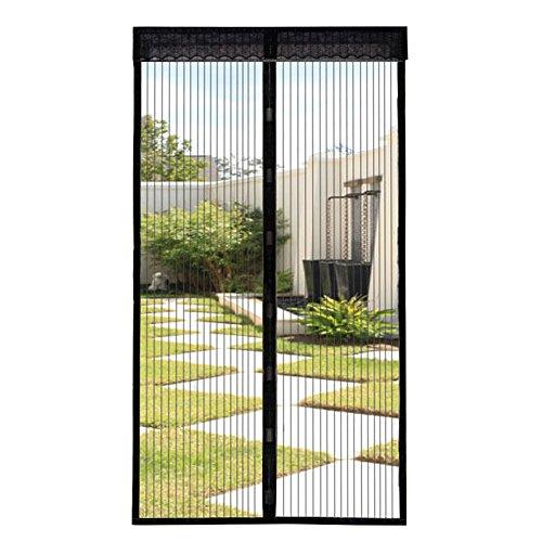 Extsud zanzariera magnetica con velcro chiusura automatica tenda zanzariera a strisce anti zanzare insetti per porte finestre balcone soggiorno (90 x 210cm)