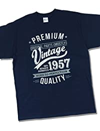 1957 Vintage Year - Aged To Perfection - 60 Ans Anniversaire T-Shirt pour Homme