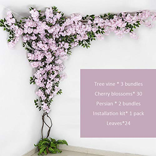 LYWIR Alberi Artificiali Azalea/Artificiale Albero Falso Indoor Grande Soggiorno Artificiale Peach Tree Wedding Floor Decoration Green Plant Pianta Artificiale